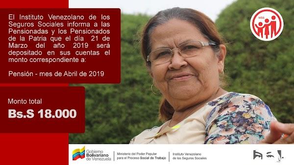 TOME NOTA! Esta es la fecha de pago de las pensiones del IVSS Abril 2019