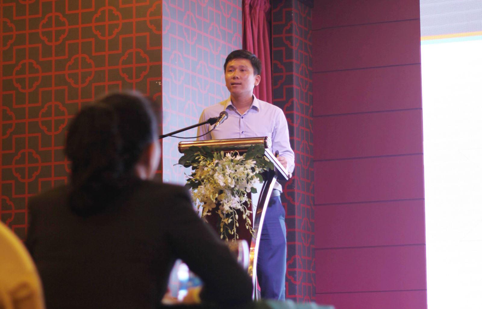 Ông Đặng Tất Thành Tổng Giám Đốc Công ty Cổ phần Đầu Tư Phát Triển Sông Đà có bài phát biểu giới thiệu về Chủ đầu tư và dự án Osimi Tower.