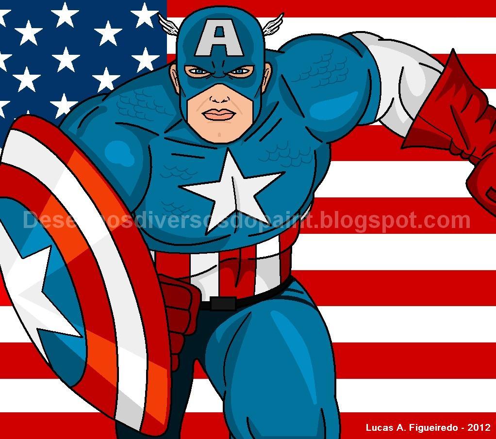 Desenhos Diversos Do Paint: Marvel