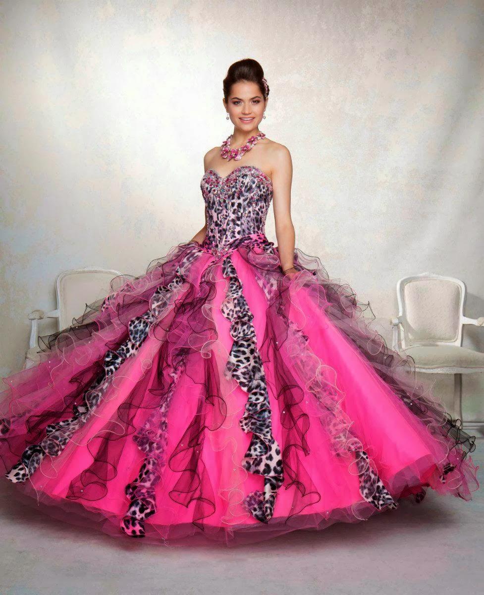Fantásticos vestidos de 15 años de colores | Moda 2014 | Vestidos ...