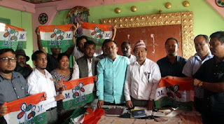TMC party flag distribution