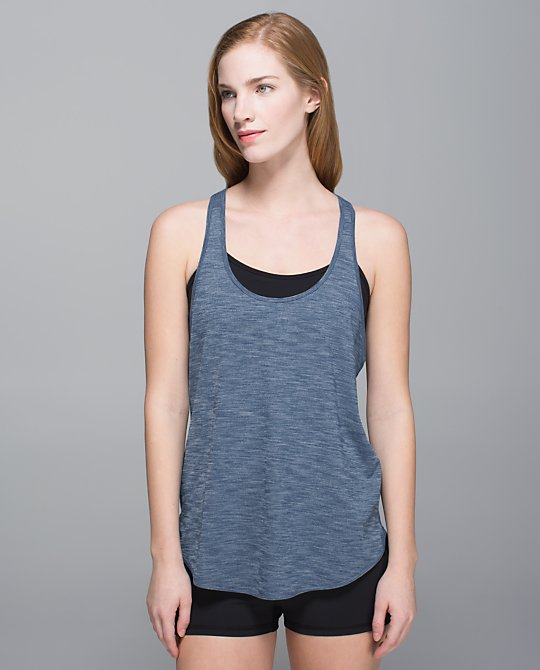 lululemon 105 f singlet hawk blue