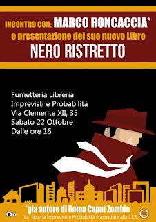 Incontro con Marco Roncaccia, Libreria Imprevisti e Probabilità