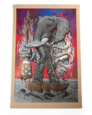 The Aftermath Hand Painted Variant Screen Print by Mike Sutfin x The VACVVM