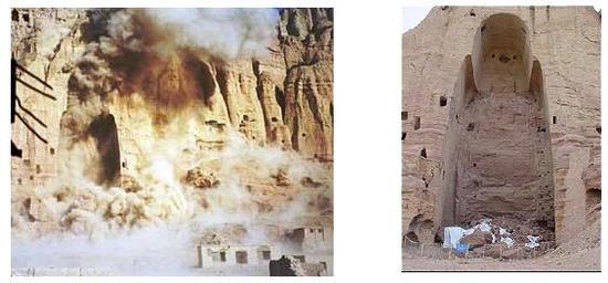 Destruição dos Budas de Bemiyan no Afeganistão