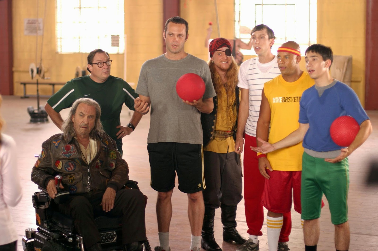 Vince Vaughn Dodgeball movie cast comedy 2004