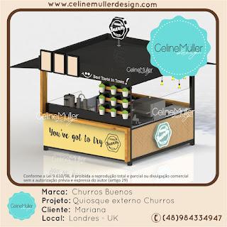 Projeto de quiosque para operação de Churros desenvolvido para um cliente londrino.