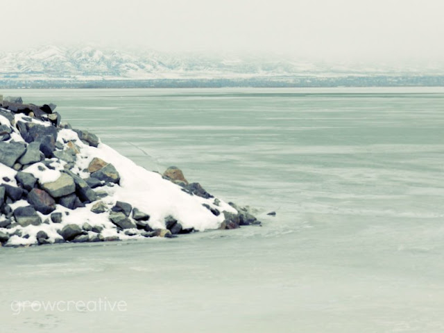 Utah Lake Frozen Landscape Photography: growcreative
