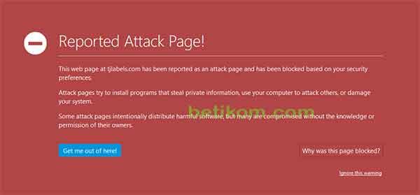 Cara Masuk Web Reported Attack Page di Mozilla Firefox