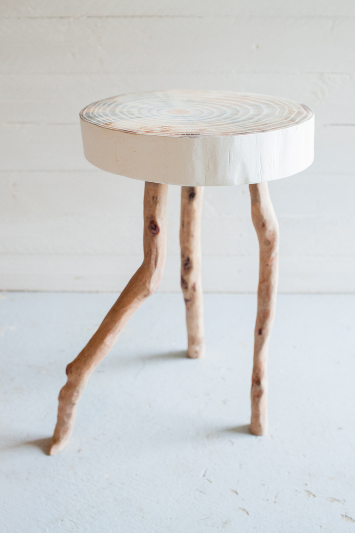 Handmade wood stool