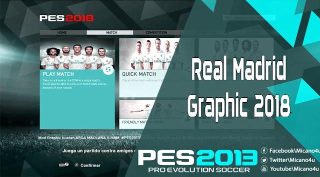 PES 2013 Real Madrid Menu Graphic 2018/19