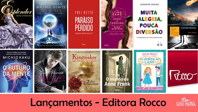 [Lançamentos] Mês de Julho - Editora Rocco