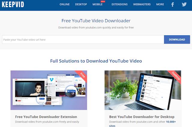 Online Video YouTube Downloader Terbaik Keepvid