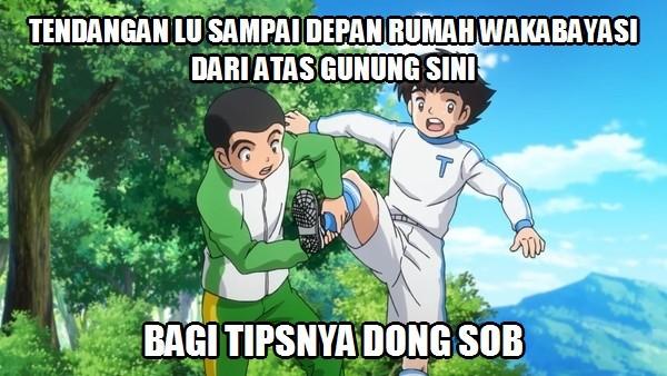 Meme Lucu Anime Kapten Tsubasa