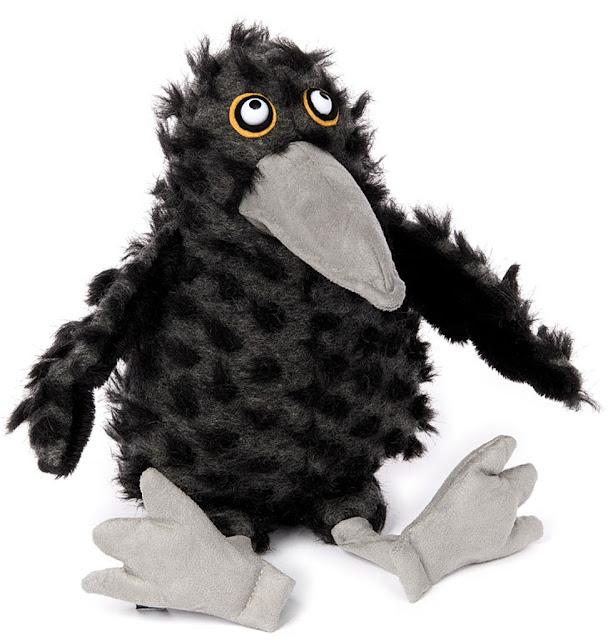 tweed feet raven soft toy sigikid