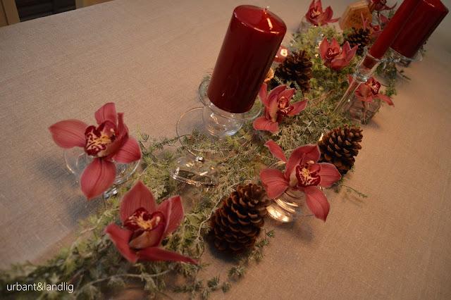 Blomster til et julebord