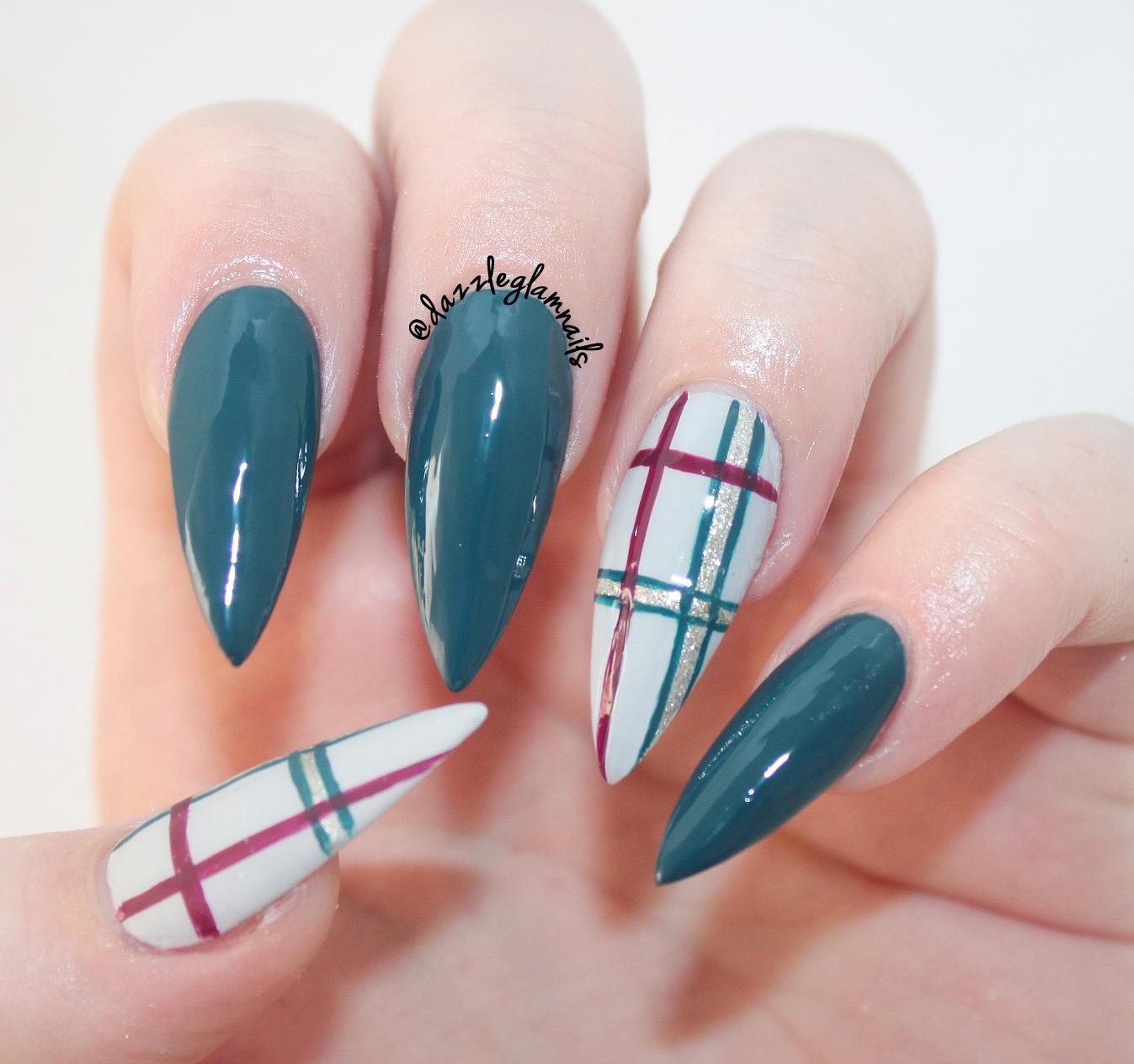 Dazzle Glam Nails Nail Art Blog Dark Fall Plaid Nail Design