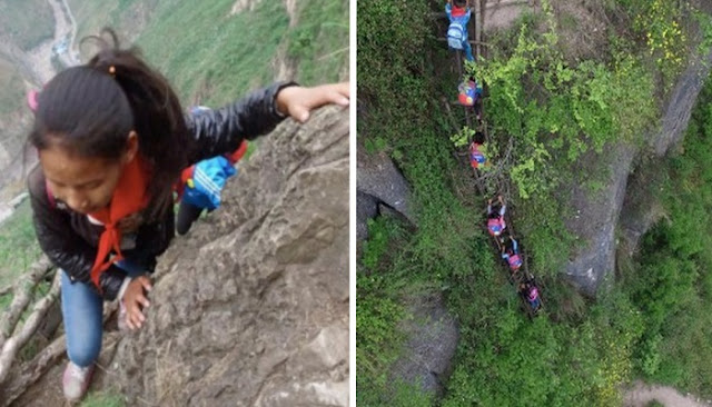These students daily cross the most dangerous path in the world to get to school