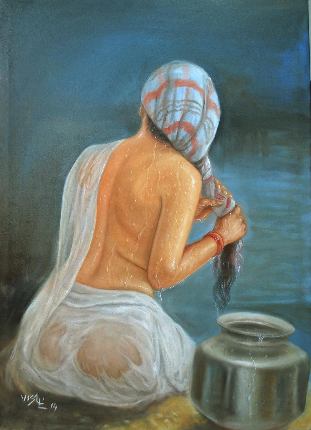 vishalandra dakur wet art from INDIA