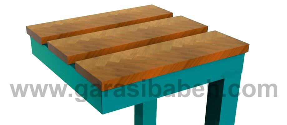 DIY project - ide membuat sendiri kursi taman / cafe dari besi bekas dan kayu rekondisi