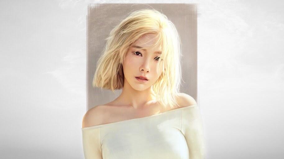 Taeyeon, Blonde, Art, 4K, #4.1442