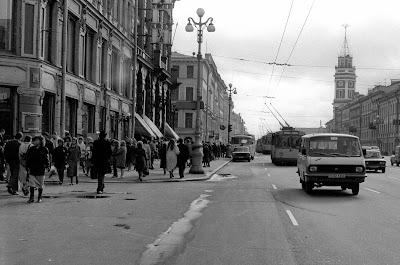 Saint-Pétersbourg, Leningrad, Nevsky Prospekt, © L. Gigout, 1990
