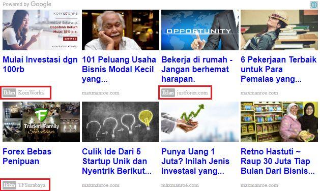 Cara menampilkan Iklan di sela sela Matched Content Adsense