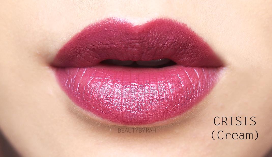 Urban Decay Cream Vice Lipstick in Crisis Swatches