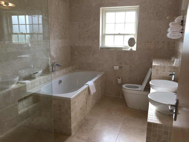 bathroom in suite at ox pasture hall hotel
