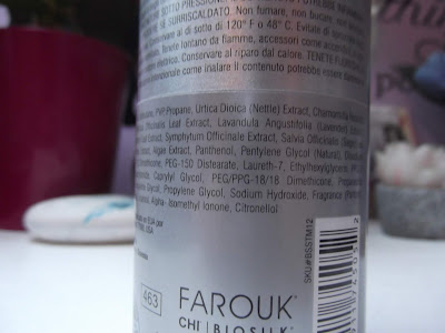 Farouk Systems Biosilk Silk Therapy Mousse Medium Hold zloženie