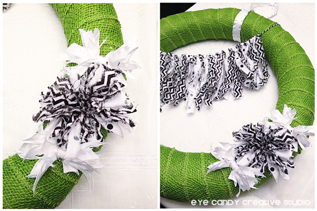 how to make pom flowers for fall wreath, making mini fabric poms