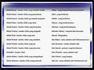 Nama Islami Untuk Anak Laki Laki