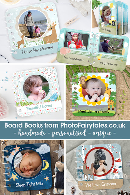 personalised handmade baby board books PhotoFairytales