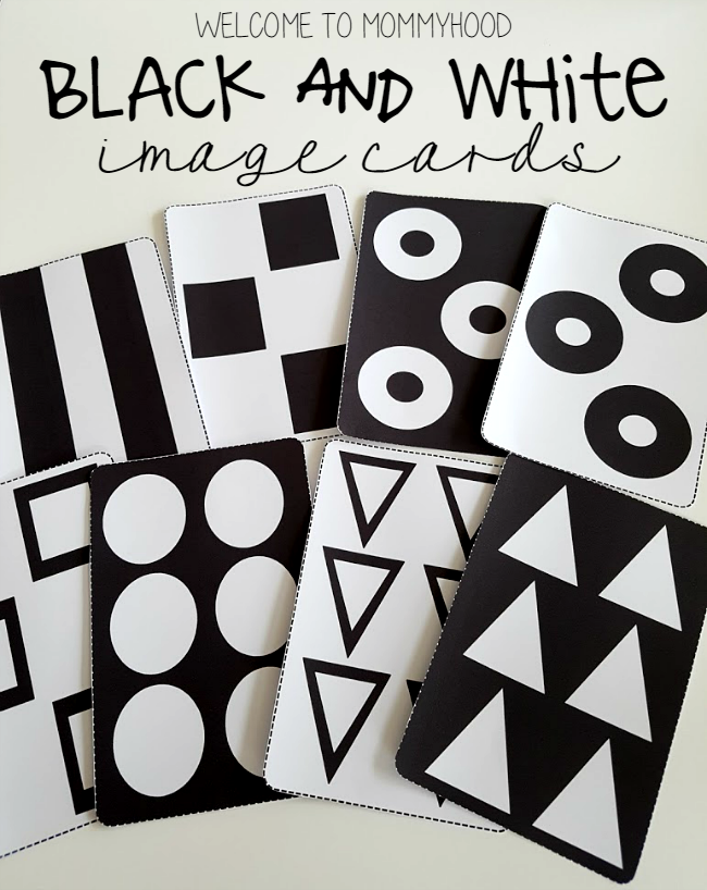 Black and white image cards for babies by Welcome to Mommyhood for visual stimulation #babies #montessori #montessoribabies