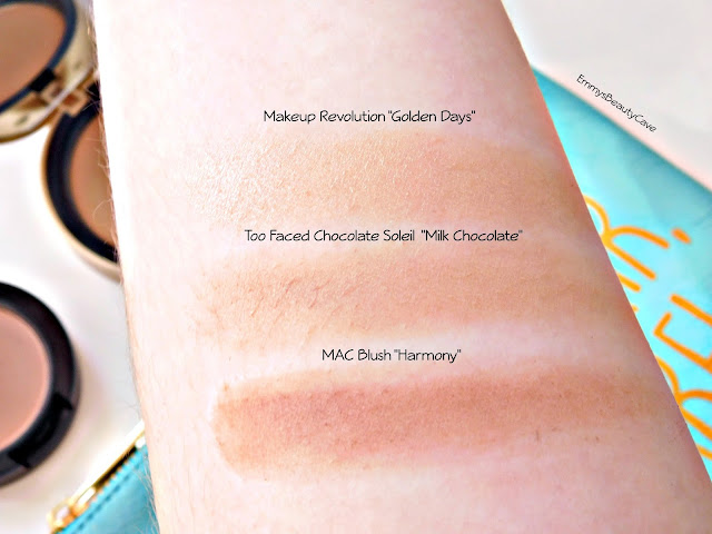 Pale Skin Bronzer Swatches
