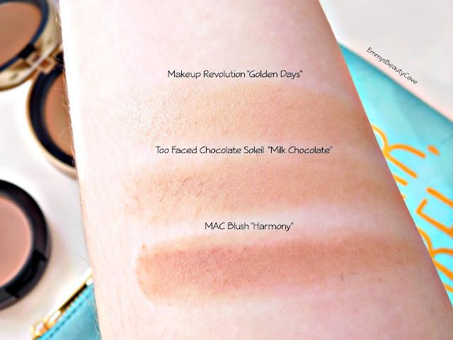 Pale Skin Bronzer Swatches