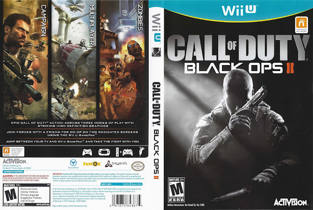 Capa Call Of Duty Black Ops 2 Wii U