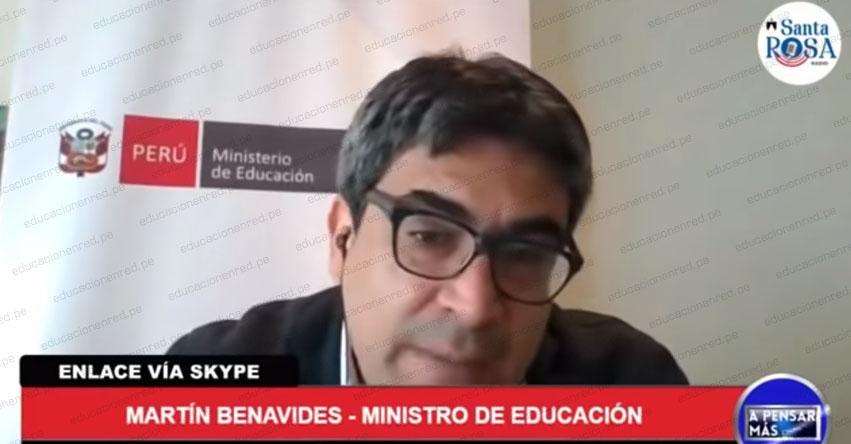 ENTREVISTA MINISTRO MARTÍN BENAVIDES (A Pensar Más con Rosa María Palacios)