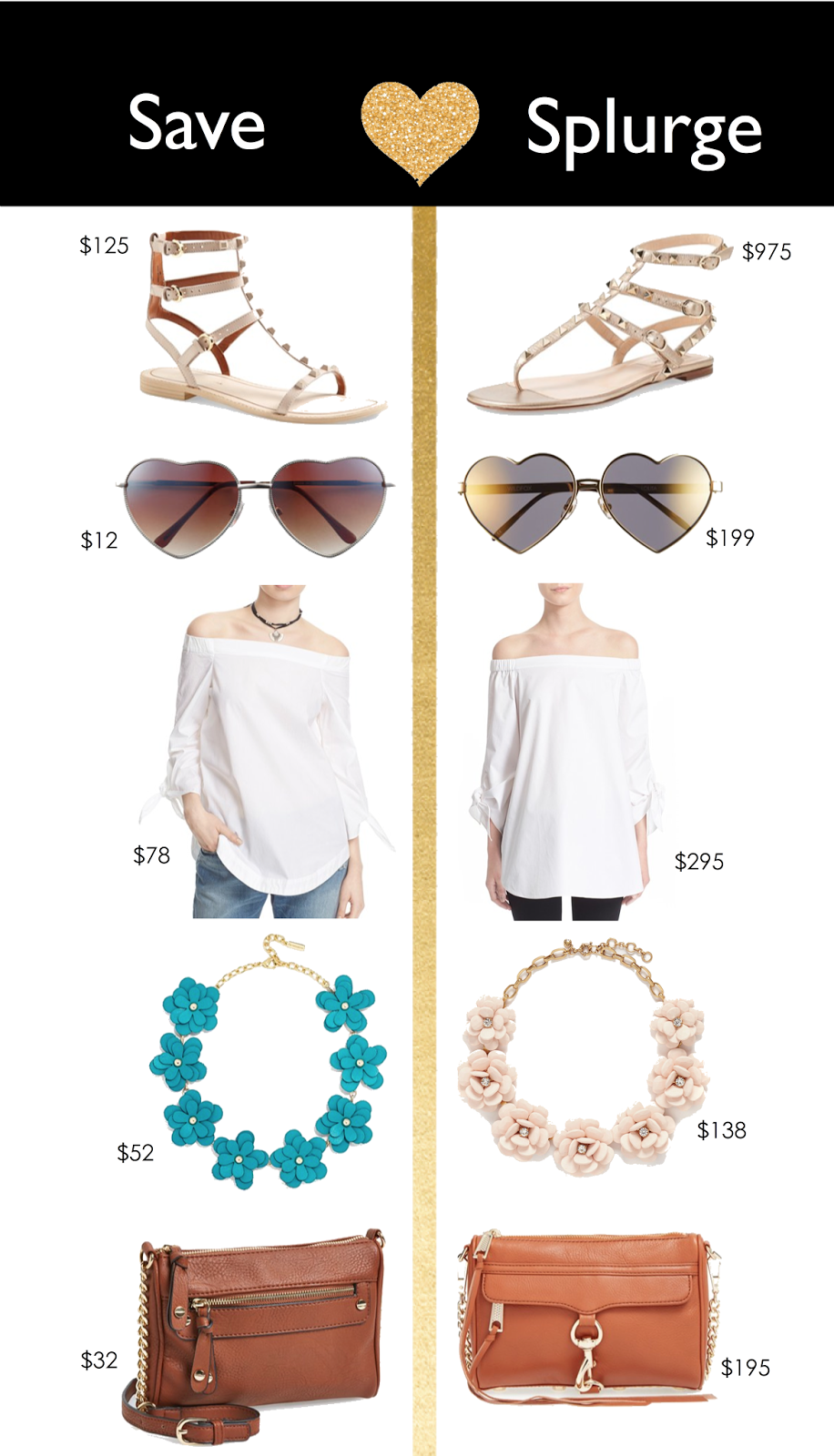 rebecca minkoff dupe, mini mac rebecca mink off knock off, valentino knock off, rebecca mink off look a like, valentino rock stud sandals dupes, jcrew flower necklace knockoff, j crew flower necklace similar cheaper, tibi off the shoulder dupe, tibi off the shoulder look a like, heart shaped sunglasses nordstrom, wild fox sunglasses look a like, wild fox sunglasses knock off