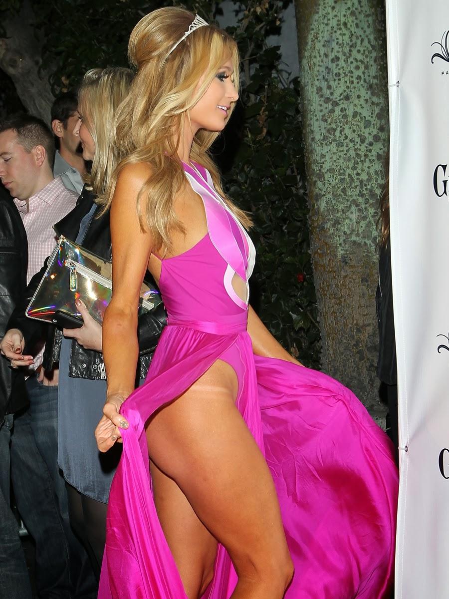 Descuido De Paris Hilton Sin Ropa Interior En Su Propia Fiesta De Cumpleaños. Foto 1