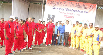 Cricket Match Between Judges And Media News Vision