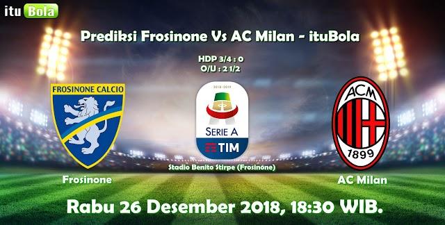 Prediksi Frosinone Vs AC Milan - ituBola