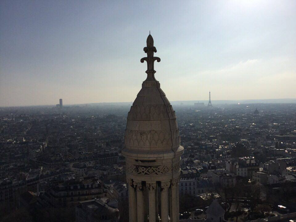 Sacre-Coeur dome view city
