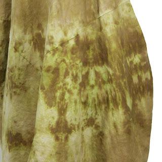 detail of desert dress by secret lentil linen lagenlook hand-dyed