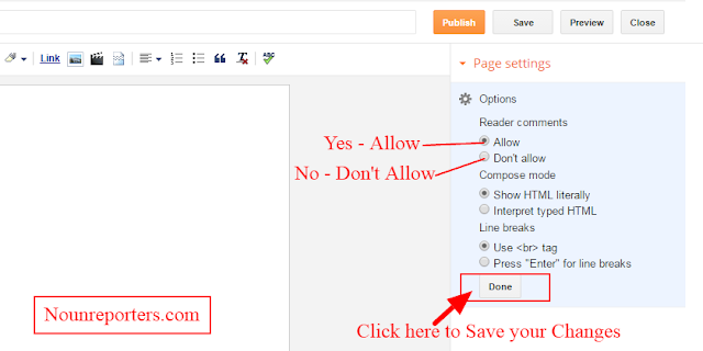 How to Allow Readers Comments to a Page Post