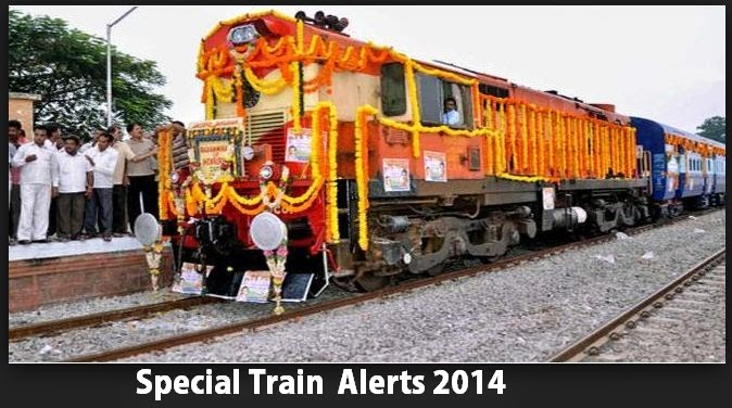 Special Trains for September 2014 | Indian Railways NEWS