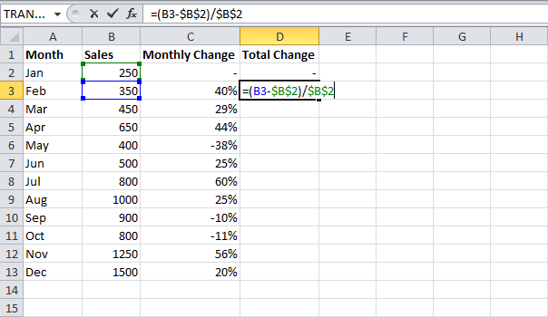 how to create a percentage formula in excel 2010