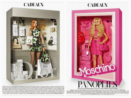 MODA: A model doll by Giampaolo Sgura for Vogue Paris