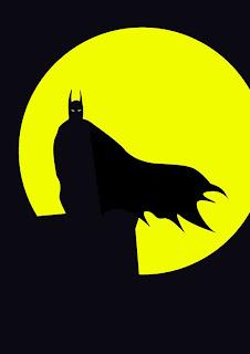 Cartel minimalista  de super héroe  Batman
