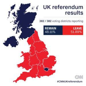 Πως ψήφισαν οι Βρετανοί στο δημοψήφισμα για το Brexit